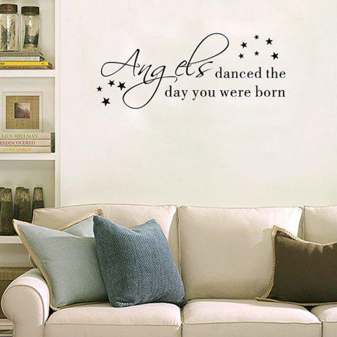 Shop Removable Waterproof Children Room Wall Stickers - BLACK  Mobile