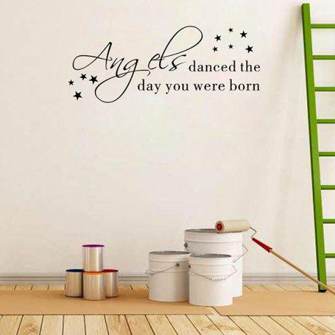 Outfit Removable Waterproof Children Room Wall Stickers - BLACK  Mobile