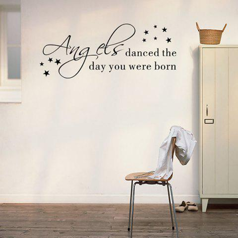 Online Removable Waterproof Children Room Wall Stickers - BLACK  Mobile