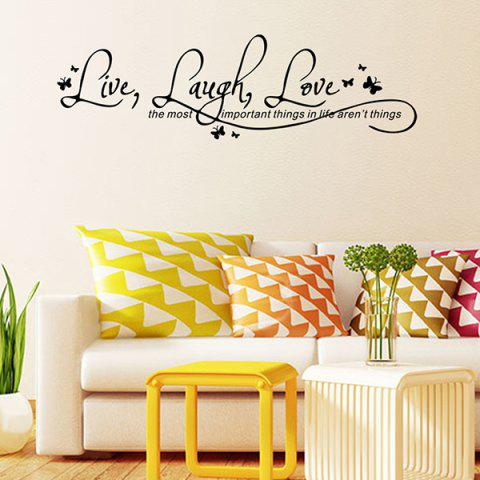 Store Proverbs Waterproof Removable Art Wall Stickers - BLACK  Mobile
