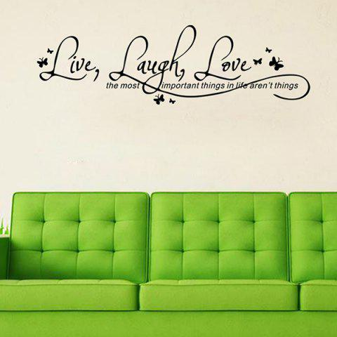 Outfits Proverbs Waterproof Removable Art Wall Stickers - BLACK  Mobile