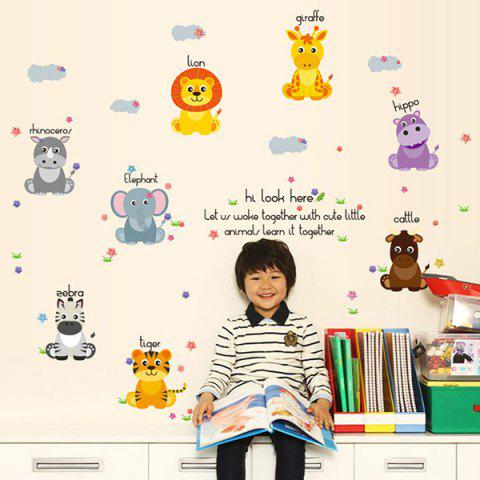 Cheap Removable Waterproof Cartoon Animals Wall Stickers