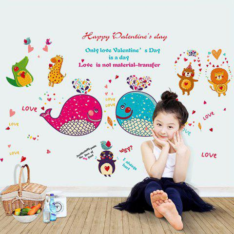 Chic Removable Waterproof Cartoon Dolphin Animals Wall Stickers