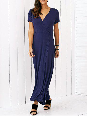 Discount High Slit Surplice Maxi Dress
