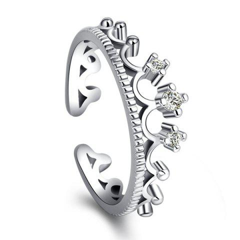 Outfits Rhinestone Crown Open Ring