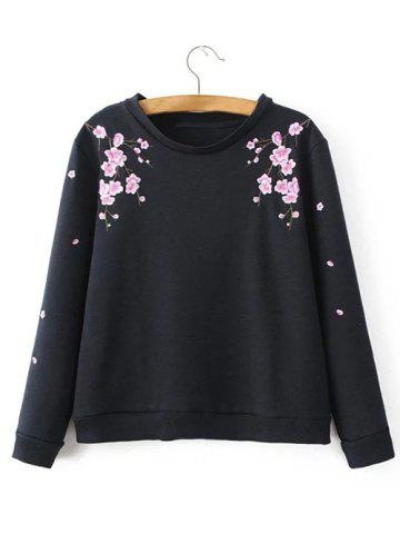New Round Neck Floral Embroidered Sweatshirt