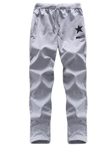 Latest Five-Point Star Print Drawstring Casual Pants