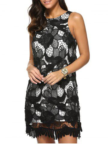 Online Sleeveless Floral Lace Dress