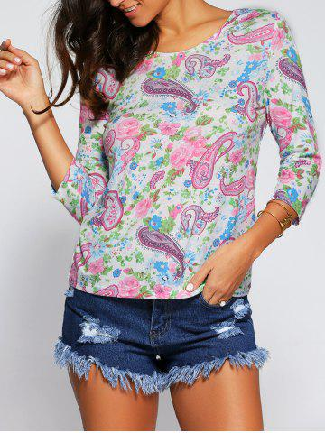 Chic Paisley and Floral Blouse