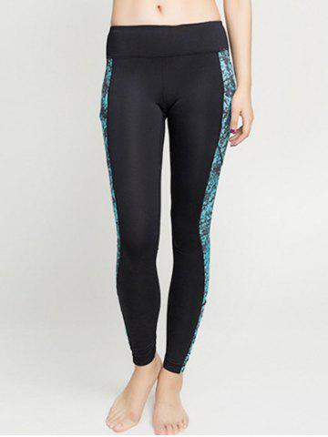 Unique Tied-Dyed Spliced Sporty Leggings