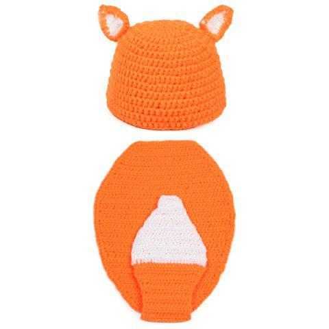 Discount Newborn Baby Cartoon Fox Shape Knitted Blanket Photography