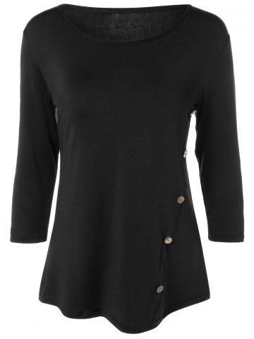 Outfits 3/4 Sleeve Buttoned T-Shirt