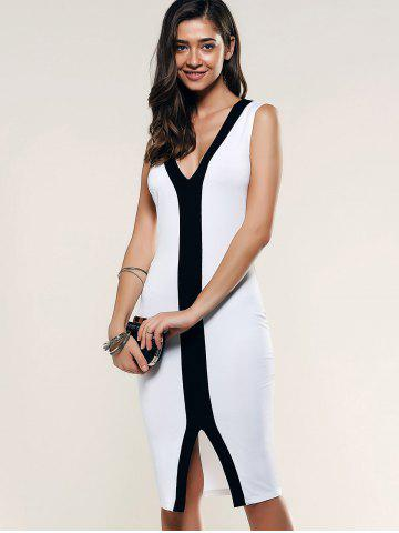 Outfit Contrast Trim Front Slit Dress