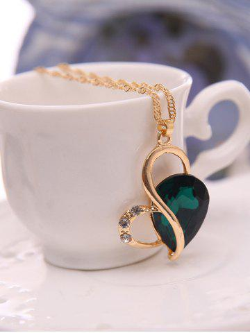 Fancy Faux Crystal Hollow Out Jewelry Set - GREEN  Mobile