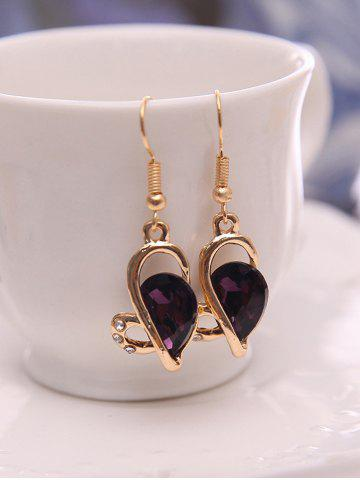 Buy Faux Amethyst Hollowed Jewelry Set - PURPLE  Mobile