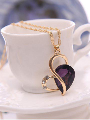 Trendy Faux Amethyst Hollowed Jewelry Set - PURPLE  Mobile