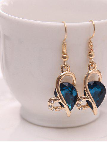Buy Hollow Out Faux Crystal Jewelry Set - BLUE  Mobile