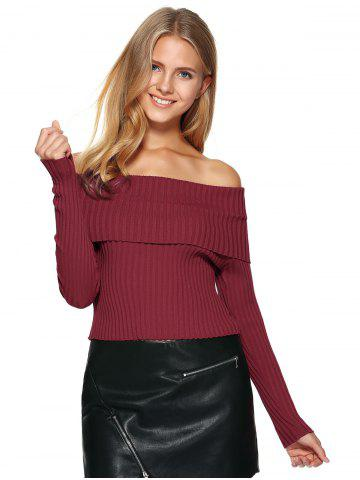Foldover Off The Shoulder Sweater от Rosegal.com INT