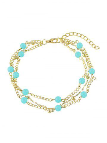 New Bohemian Layered Beaded Anklet GOLDEN