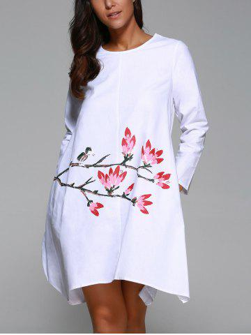 Trendy Flowers Print Swing Dress