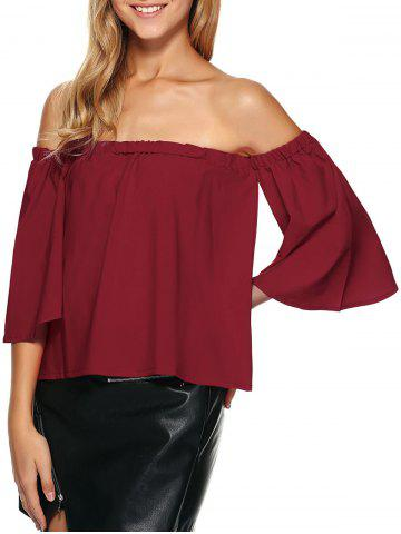 New Off The Shoulder Ruffle Top