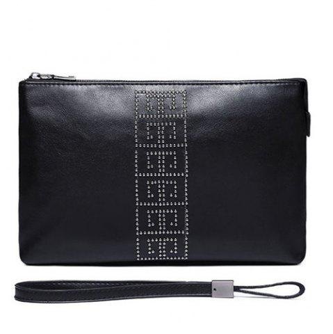 Unique Wristlet Rivet Business Clutch Bag