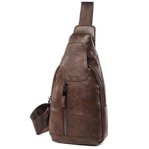 Outfit PU Leather Chest Bag
