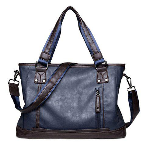 Shops Zip PU Leather Laptop Bag