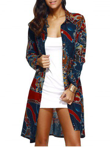Discount Linen Printed Shirt Coat
