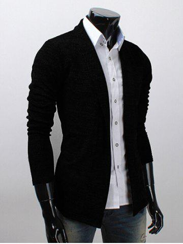 Outfit Shawl Collar Long Sleeve Texture Cardigan
