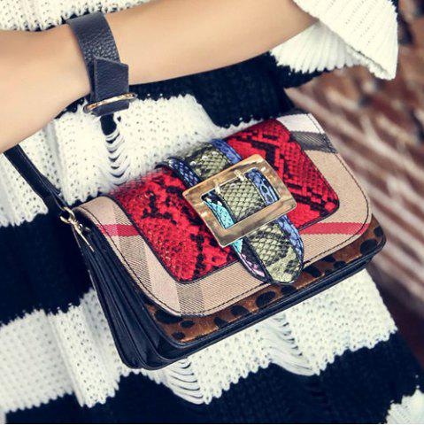 Discount Buckle Embossing PU Leather Crossbody Bag