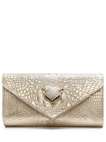 Hot PU Leather Rhinestones Embossing Evening Bag