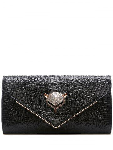 Chic PU Leather Rhinestones Embossing Evening Bag