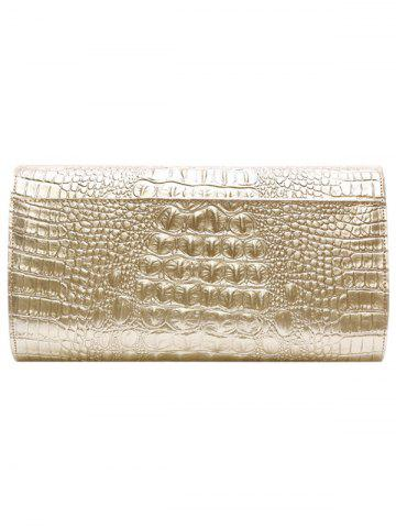 New PU Leather Rhinestones Embossing Evening Bag - WHITE  Mobile