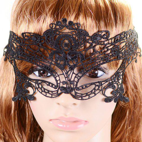 Latest Gothic Style Hollowed Lace Party Mask BLACK