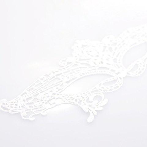 Sale Gothic Style Hollowed Lace Party Mask - WHITE  Mobile