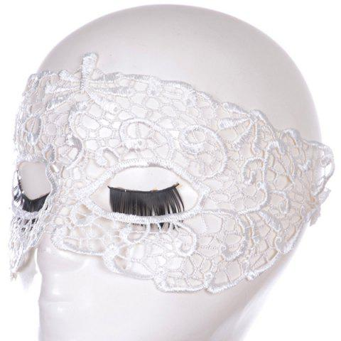Sale Gothic Style Hollow Out Lace Party Mask - WHITE  Mobile