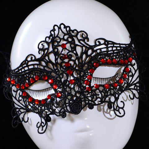 Cheap Gothic Style Faux Ruby Lace Party Mask