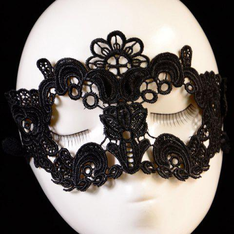 Latest Gothic Style Flower Lace Party Mask BLACK