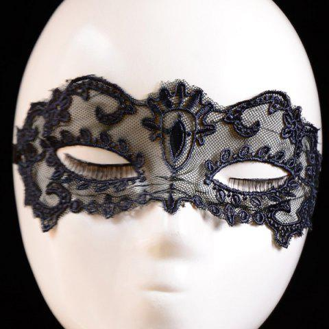 Masque Style gothique Party Floral Lace Noir