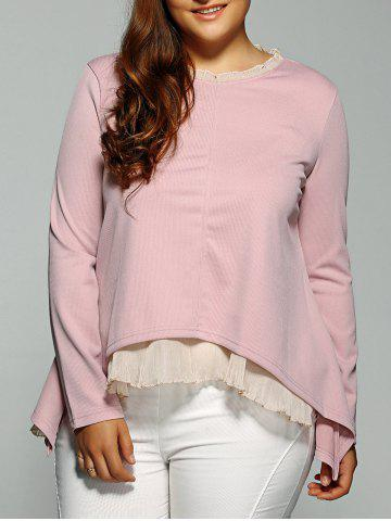 Store High-Low Layered Blouse PINK 3XL