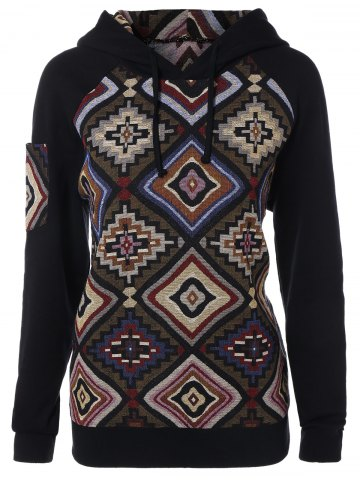 Outfit Geometric Pattern Hoodie