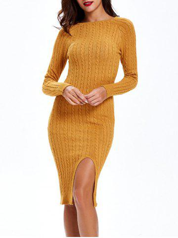 Hot Cable-Knit Furcal Double-Wear Dress