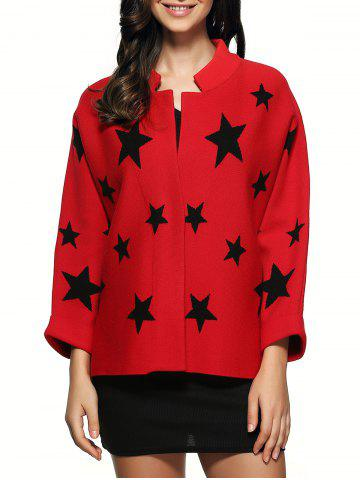Best Star Pattern Knitted Cardigan