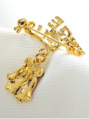 Buy Alloy Jingle Bells Bows Christmas Brooch - GOLDEN  Mobile