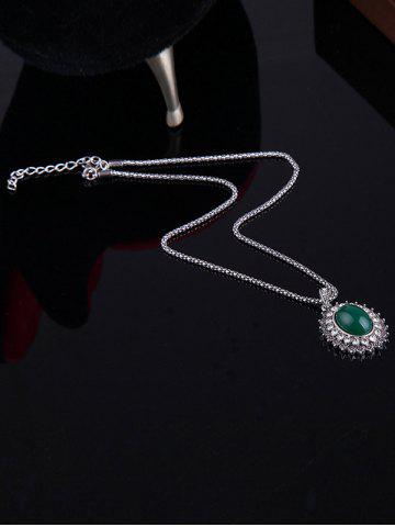 Outfit Faux Emerald Rhinestone Geometric Jewelry Set - ONE-SIZE GREEN Mobile