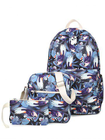 Cheap Zippers Floral Print Colour Block Backpack