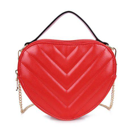 Latest Chains Heart Shaped Crossbody Bag