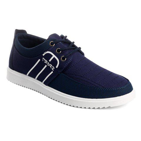 Buy Splicing Stitching Lace-Up Casual Shoes