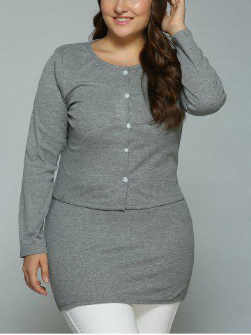 Hot Buttoned Cardigan and Bodycon Tank Dress